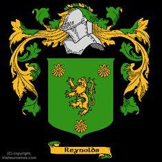 Irish Reynolds Coat of Arms, Family Crest