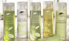 """Westin Hotel Collection - White Tea Aloe Collection  """"Heavenly!"""" Although we prefer Marriott Hotels and Resorts, we do love The Westin spa bath products."""