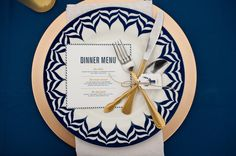 Woodland Navy and Gold Wedding Inspiration