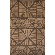 Jaipur Rugs Aztec Wool Hand Tufted Brown Area Rug