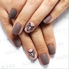 Autumn nails Contrast nails Fall matte nails Fashion matte nails Ideas of matte nails Matte nails Nails with animals Novelty of fall nails Fox Nails, Matte Nails, Pink Nails, Beige Nails, Polish Nails, Nail Polishes, Beige Nail Art, Acrylic Nails, Beige Art