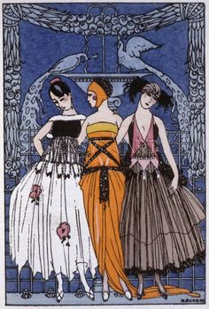 The three graces, fashion plate France, c. 1920, George Barbier Prints from Easyart.com