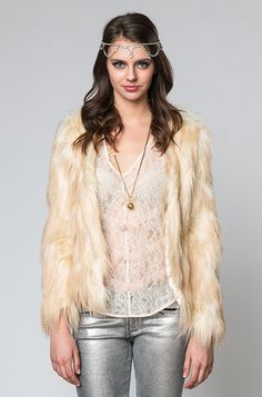Arctic Fox Faux Fur Coat