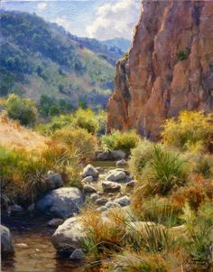 how to html color codes for text Beautiful Paintings Of Nature, Nature Paintings, Beautiful Landscapes, Landscape Paintings, Bob Ross Paintings, Realistic Paintings, Oil Painting Gallery, Water Pictures, Desert Art