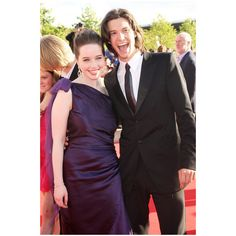 Anna Popplewell and Ben Barnes. Look at Ben's face! It's hilarious! The Chronicles of Narnia.