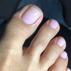 Pretty Toe Nails, Cute Toe Nails, Pretty Nail Colors, Pretty Toes, Toe Nail Color, Dark Color Nails, Summer Toe Nails, Nagellack Trends, Feet Nails