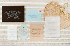 Tropical Destination Wedding Invitations via @Oh So Beautiful Paper: http://ohsobeautifulpaper.com/2014/01/jaclyn-brents-tropical-destination-wedding-invitations/ | Design: @papellerie | Calligraphy: Abany Bauer of Brown Linen Design | Photo Credits: @Adam Nyholt #calligraphy #wedding
