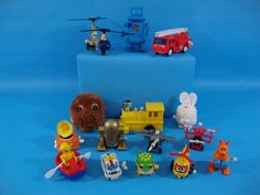 Lot of 15 Vintage Wind Up Toys Robot, Cars, Planes, Helicopter,Fire Engine &more #Various