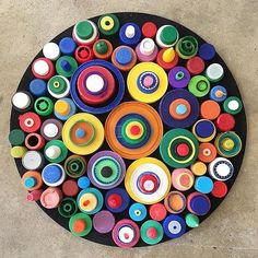 #2minutebeachclean bottle tops collected in UK