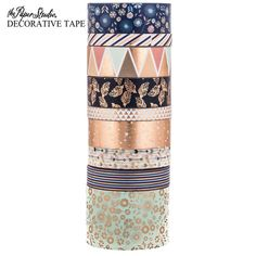 Get Navy & Copper Aztec Washi Tape Tube online or find other Tape products from HobbyLobby.com