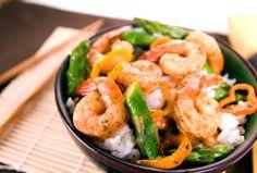 Chili Shrimp and Asparagus Stir Fry #stirfry #lowcarb #shrimp