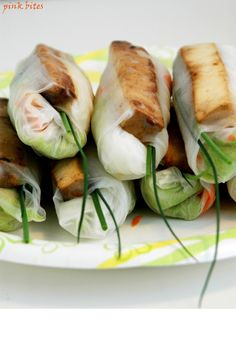 Tofu Summer Rolls  - skip our shrimp-y friends and just use tofu!