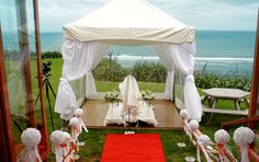 Castaways, you cant beat that view out over the ocean from the ceremony site Auckland, Gazebo, Wedding Venues, Ocean, Outdoor Structures, Weddings, Gallery, Wedding Reception Venues, Kiosk