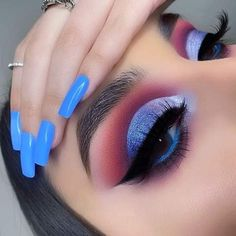 eye makeup art * eye makeup - eye makeup tutorial - eye makeup natural - eye makeup for brown eyes - eye makeup art - eye makeup for blue eyes - eye makeup tips - eye makeup tutorial for beginners Makeup Eye Looks, Eye Makeup Art, Colorful Eye Makeup, Eye Makeup Tips, Makeup Goals, Skin Makeup, Eyeshadow Makeup, Makeup Ideas, Makeup Products