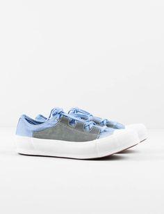 Blue Asymmetric Ghillie Sneaker