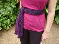Woven Belt Front Post Crochet Pattern