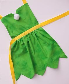 Tinkerbell fairy dress up apron for toddlers by SimplyRoyalDress