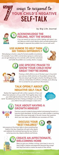 Six ways to talk with your kids about negative thoughts