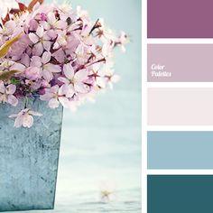 Color Palette purple and blue, super pretty for a wedding ideen farben altrosa Purple Color Palettes, Blue Colour Palette, Lilac Color, Color Shades, Bedroom Colour Schemes Blue, Best Bedroom Colors, Purple Color Schemes, Decoration Palette, Color Swatches