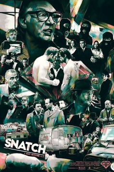 Limited Edition Screen print for films 'Snatch' and 'Lock Stock and Two Smoking Barrels' directed by Guy Ritchie.