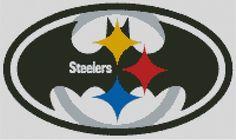 Cross stitch chart, Pattern, Pittsburgh Steelers, Batman, NFL, American Football #Doesnotapply