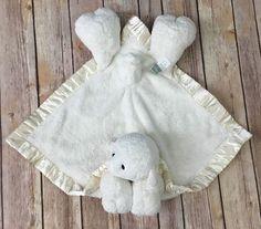 Ellis By Plush Image Cream Lamb Lovey Security Blanket Baby Sheep #EllisByPlushImage
