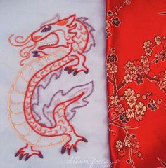 Dragon Embroidery Patterns | free Chinese Dragon embroidery pattern