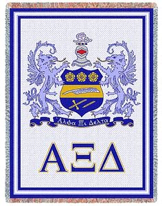 Our Alpha Xi Delta Afghan is an elegantly woven sorority throw and measures It also carries the Alpha Xi Delta Greek letters and crest. A distinctive gift for a new active or loyal alum! College Sorority, Delta Sorority, Alpha Xi Delta, Sorority Sisters, Sorority And Fraternity, Delta Greek Letter, Sorority Quotes, Greek Gear, Sorority Outfits