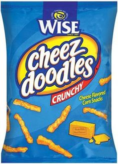 Wise Original Crunchy Cheez Doodles are a snack that's perfect for those who can't get enough cheese, and crunch too! Potato Snacks, Savory Snacks, Potato Chips, Snack Recipes, Cheez Doodles, Toasted Crackers, Hello Kitty Photos, Portion Control, New Flavour