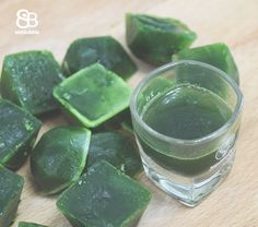 How to make wheatgrass shots for the week without a juicer!  #juice #recipe