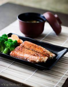 2 Recipes: Salmon Teriyaki and Miso Soup - Japanese Food
