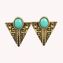 New vinatge jewelry Triangle alloy dangle drop earring gift for women girl E2688(China (Mainland))