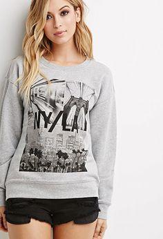 NY LA Graphic Sweatshirt | Forever 21 - 2000161470