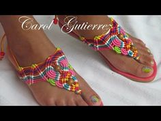 Slipper Sandals, Macrame Tutorial, Flip Flop Sandals, Gladiator Sandals, Most Beautiful Pictures, Designer Shoes, Slippers, Youtube, My Style