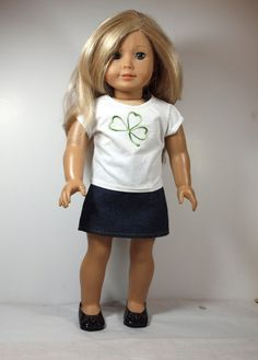 American Girl Doll Clothes    Skirt Outfit  von AbygailElizabeth, $7,99