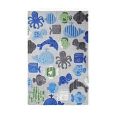 Probably only appropriate for children's rooms, but I heart this.  A lot.  NuLoom Ocean World Gray rug, 3.5 x 5.5