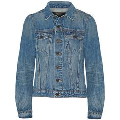Proenza Schouler PS-J denim jacket ($500) ❤ liked on Polyvore featuring outerwear, jackets, denim jacket, tops, proenza schouler, blue jean jacket, party jackets, going out jackets and jean jacket