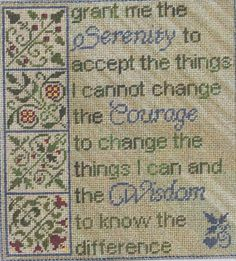 Erica Michaels - Cross Stitch Patterns & Kits (Page Cross Stitch Fabric, Cross Stitch Kits, Cross Stitch Charts, Cross Stitching, Cross Stitch Embroidery, Cross Stitch Patterns, Needlepoint Patterns, Needlepoint Canvases, Serenity Prayer