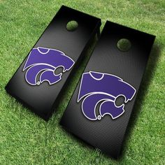 Hustle up the gang for a fun-filled day of cornhole with these Kansas State Wildcats cornhole boards decked with a...