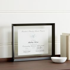Stage 11x14 Document Frame - Crate and Barrel