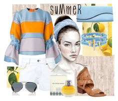 """Summer fresh"" by ejuszczyk ❤ liked on Polyvore featuring Henri Bendel, Giorgio Armani, Roksanda, Sonia Rykiel, Burberry, Givenchy, Too Late and A.S. 98"