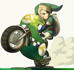 because you KNOW he's too cool for a Kart.