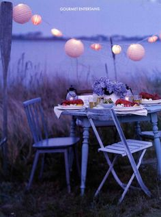 wish i could throw a party that close to the water!