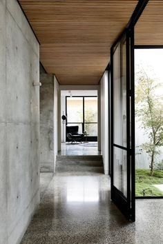 Light Vault House by Chamberlain Architects - The Brighton Concrete Bunker - The Local Project Patio Interior, Apartment Interior, Home Interior Design, Exterior Design, Interior Architecture, Architecture Diagrams, Australian Architecture, Interior Ideas, Timber Battens