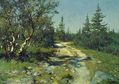 Road To Cape Pechak. Solovki - oil, canvas, Yuri Vasendin