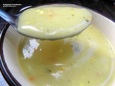 Burgonya krémleves - tej- és gluténmentes recept Nagyon egyszerű és nagyon finom, a hűvösebb időben pedig kitűnő ebédre vagy vacsorára is.