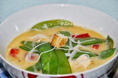 Asiatische Suppe mit Glasnudeln, Tofu und Kokosmilch http://mitliebeverfeinert.blogspot.de/