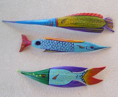 Tropical Fish Carved from Palm Seed Pod Hand by roseartworks, $30.00