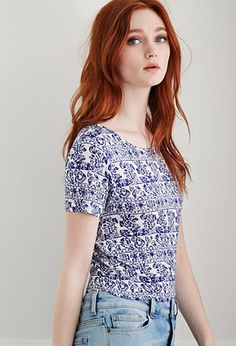 Abstract Print Tee | Forever 21 - 2000053362