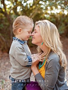mom with youngest son. Then add in older sibling for mom with boys pose